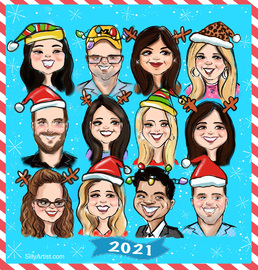 virtual zoom caricature corporate party events
