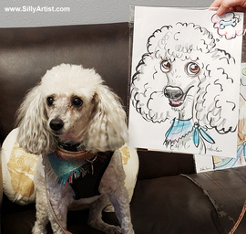 funny dog pet caricature cartoon austin texas