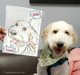 austin pet artist caricatures cartoons