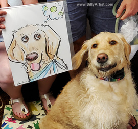 live pet caricature artist in austin