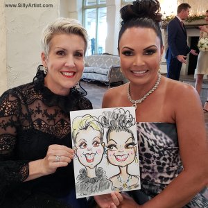 party caricature cartoon in austin silly artist
