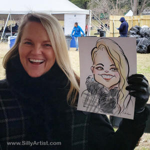 Austin Texas Governor's inauguration caricature Silly Artist